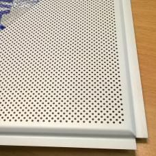 Кассета Албес AP 600 A6 Al белый матовый перфорированный