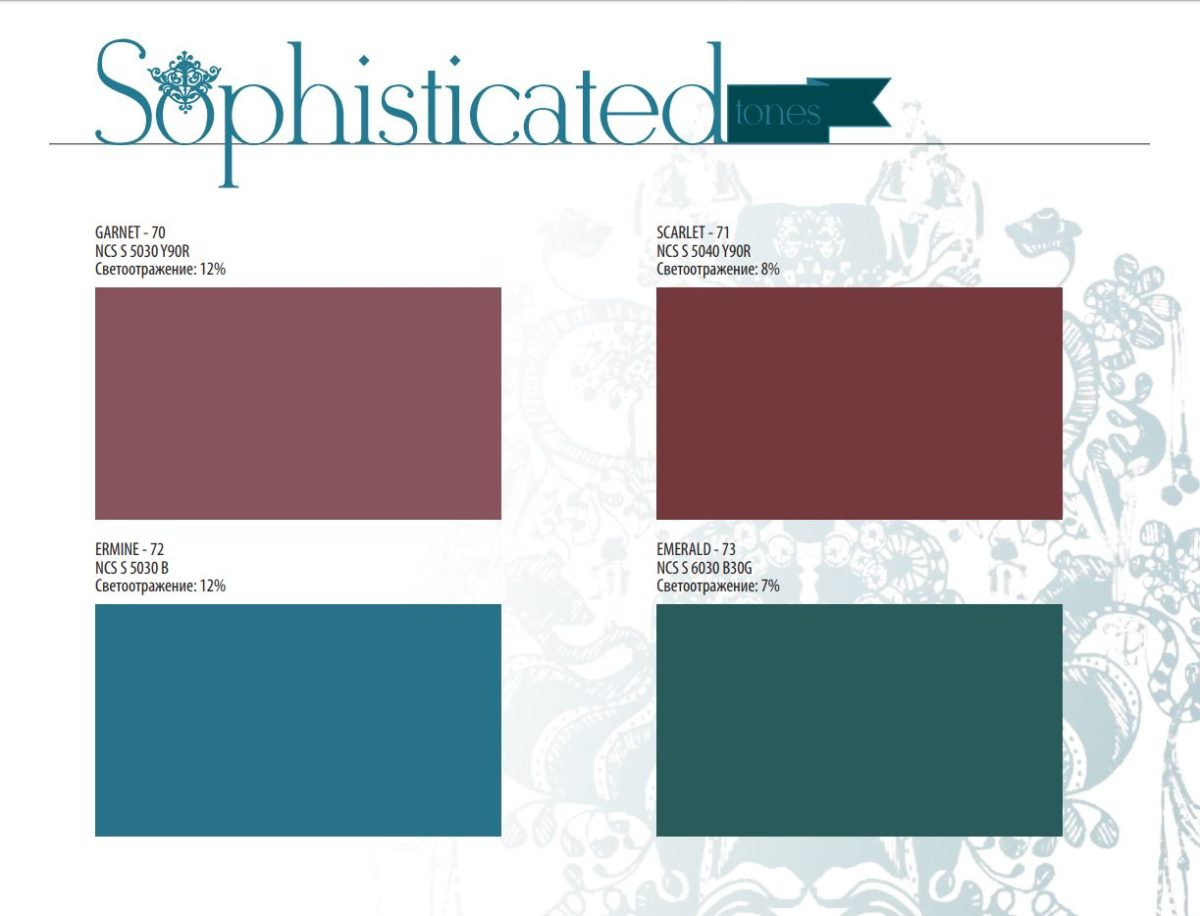 Rockfon Color-all Sophisticated tones